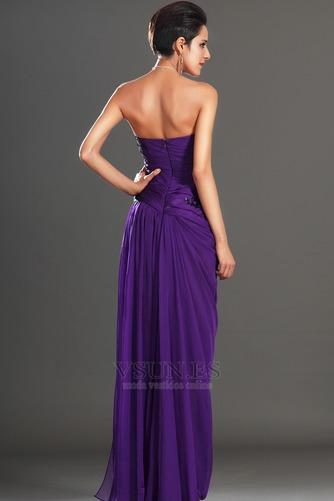 Vestido de noche Encaje Glamouroso Natural Frontal Dividida Apliques - Página 7