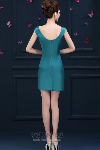 Vestido de cóctel primavera Falta Blusa plisada Glamouroso Plisado Cremallera - Página 4