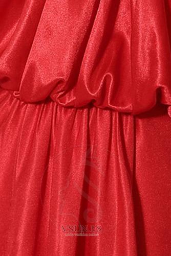 Vestido de noche Corte Sirena Satén largo Drapeado Cordón Escote halter - Página 4