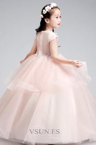 Vestido niña ceremonia Joya Natural Falta Formal Cremallera Apliques - Página 2