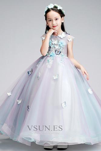 Vestido niña ceremonia Sin mangas Corte-A primavera Joya Natural Formal - Página 4