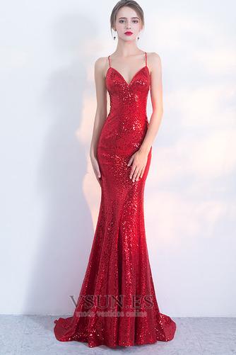 Vestido de fiesta Corpiño Con lentejuelas Corte Sirena Estrellado Natural - Página 1