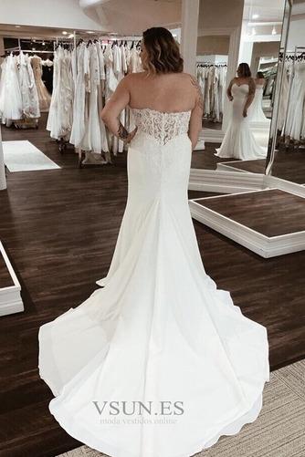 Vestido de novia Playa Cremallera Rectángulo Drapeado Satén Escote Corazón - Página 2