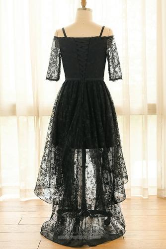Vestido de fiesta Escote con Hombros caídos Asimètrico Cordón Elegante - Página 7
