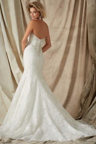 Vestido de novia Corte Sirena Colores Cremallera Sala Cola Capilla Escote Corazón - Página 2