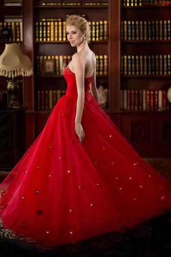 Vestido de novia primavera Natural tul Cremallera Escote Corazón Corte-A - Página 4