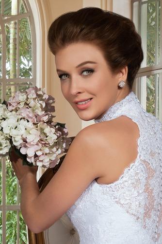 Vestido de novia Apliques Sin mangas primavera Alto cubierto Corte-A - Página 2