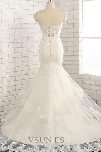 Vestido de novia Natural Apliques Capa de encaje Invierno tul Moderno - Página 2