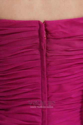 Vestido de fiesta Falta Gasa Elegante Corte-A Sin mangas Cintura Baja - Página 6