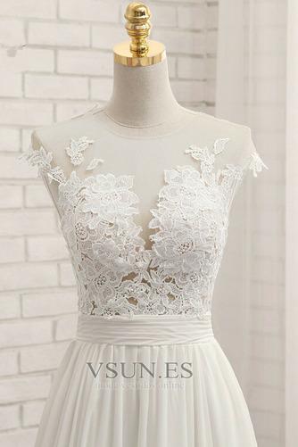 Vestido de novia primavera Apertura Frontal Natural Pura espalda Encaje - Página 5
