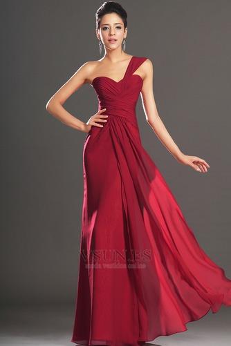 Vestido de noche Elegante Blusa plisada Corte Recto Plisado Hasta el suelo - Página 1