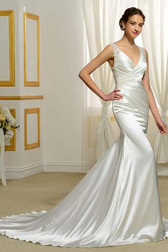 Vestido de novia Natural Corte Sirena Falta Espalda Descubierta Otoño - Página 2