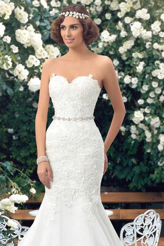 Vestido de novia Corte Sirena Drapeado Fuera de casa Falta Moderno Capa de encaje - Página 5