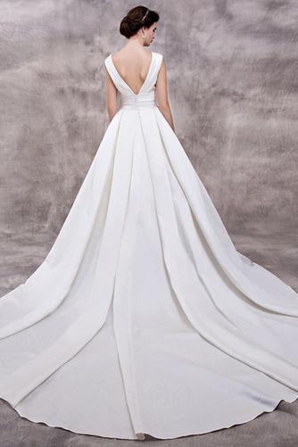 Vestido de novia Elegante Escote en V Dobladillos Corte-A largo Satén - Página 2