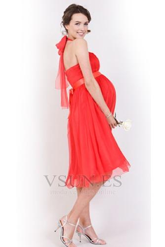 Vestido de noche Gasa Imperio Glamouroso Fuera de casa Extraíble Sash - Página 4
