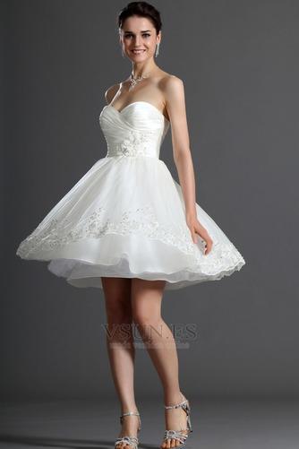 Vestido de novia Verano Sin mangas Natural Delgado Capa de tul Blusa plisada - Página 4