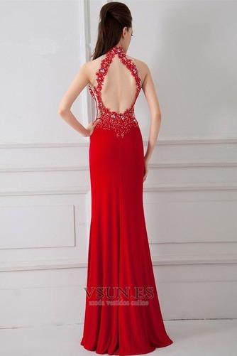 Vestido de noche primavera Corte Sirena Sin mangas Elegante Falta Espalda medio descubierto - Página 2