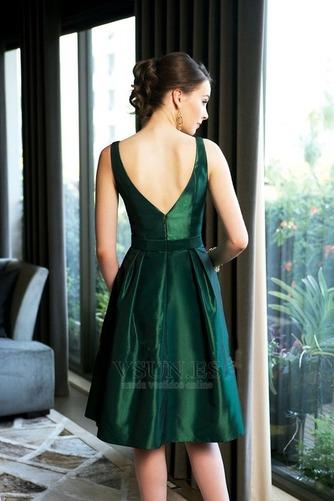 Vestido de dama de honor Corte-A Espalda medio descubierto Verano Rosetón Acentuado - Página 2