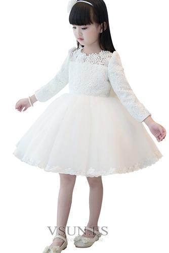 Vestido niña ceremonia Natural Hasta la Rodilla Falta Joya Satén Cremallera - Página 5