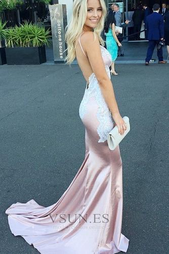Vestido de fiesta Corte Sirena Tallas pequeñas Espalda Descubierta Baja escote en V - Página 3