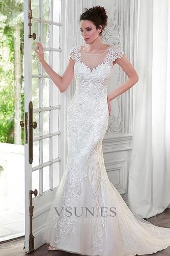 Vestido de novia Sin tirantes Natural Encaje Iglesia Reloj de Arena - Página 1