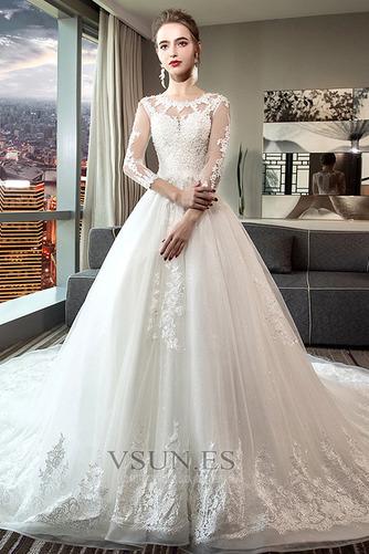 Vestido de novia Encaje Satén primavera Corte-A Formal Camiseta - Página 1