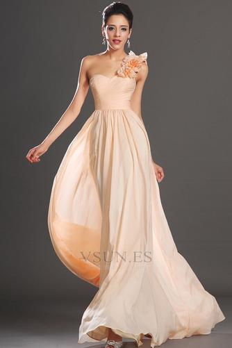 Vestido de fiesta Elegante Corte Recto Un sólo hombro Un tirante con flor - Página 1