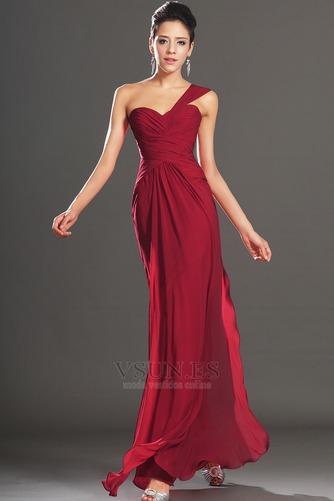 Vestido de noche Elegante Blusa plisada Corte Recto Plisado Hasta el suelo - Página 3