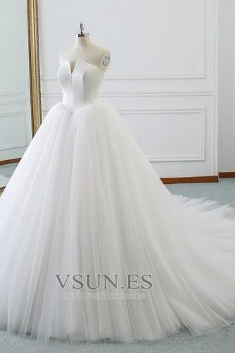 Vestido de novia Corte-A primavera Drapeado largo Cordón Sala - Página 3