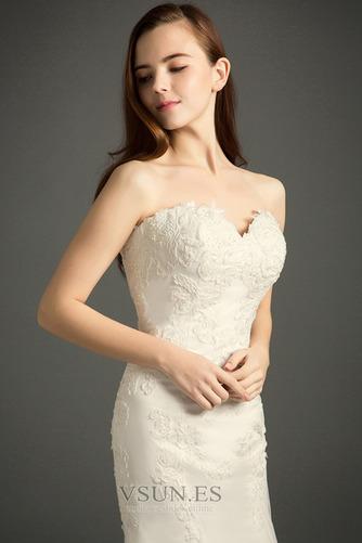 Vestido de novia Otoño Sin mangas Fuera de casa Encaje Natural Abalorio - Página 3