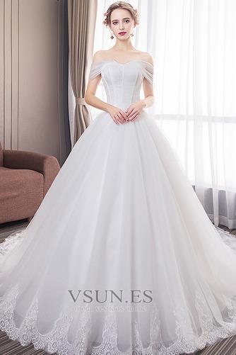 Vestido de novia Formal Manga tapada Capa de encaje Corte-A Natural - Página 1