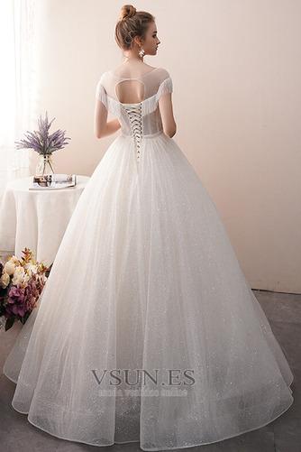 Vestido de novia Colores Sin mangas Estrellado Otoño Corte-A Hasta el suelo - Página 2