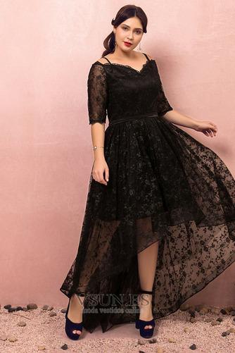 Vestido de fiesta Escote con Hombros caídos Asimètrico Cordón Elegante - Página 4