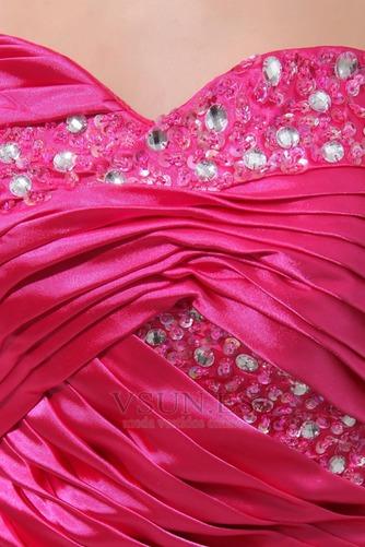 Vestido de noche Sin tirantes cereza Plisado fantasía Glamouroso Cordón - Página 5