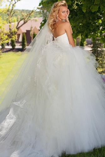 Vestido de novia Apliques Sala Con velo Escote Corazón Cintura Baja - Página 1