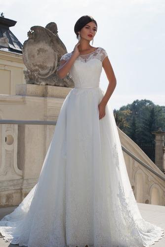 Vestido de novia Cola Capilla Sala Formal Natural Espalda Descubierta - Página 1