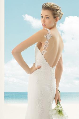 Vestido de novia Corte Sirena Escote de Tirantes Espaguetis largo Encaje - Página 3