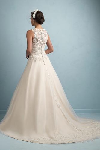 Vestido de novia Modesto Cremallera Otoño Natural largo Sin mangas - Página 2