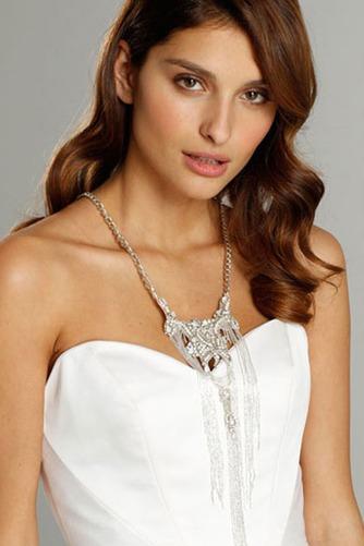 Vestido de novia Sin mangas largo Espalda Descubierta Natural Satén - Página 6