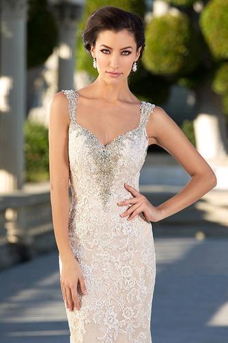 Vestido de novia Moderno Espalda Descubierta Corte Sirena tul primavera - Página 3