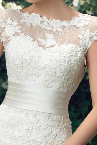 Vestido de novia Fajas Manga corta Otoño Espalda medio descubierto Cola Barriba - Página 4
