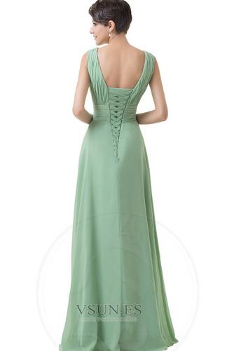 Vestido de dama de honor Corte-A Sencillo Espalda Descubierta Natural Hasta el suelo - Página 2