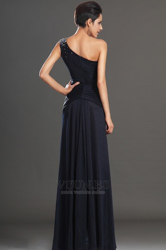 Vestido de noche Largo Natural Drapeado Lateal Blusa plisada Espalda medio descubierto - Página 6