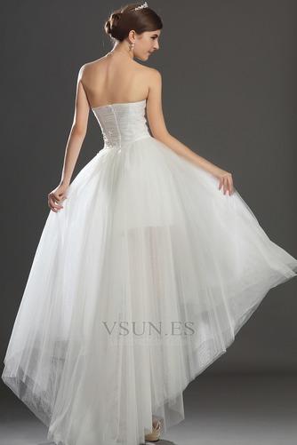 Vestido de novia Escote Corazón Apertura Frontal Asimétrico Dobladillo - Página 6