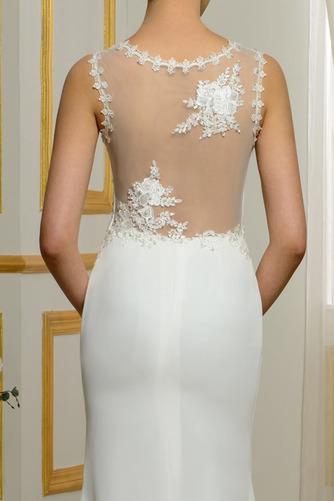 Vestido de novia Tallas pequeñas Playa Volantes Adorno Tiras anchas - Página 5