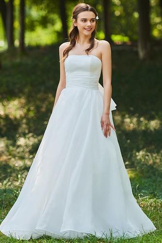 Vestido de novia Corte-A Cascada de volantes Sin mangas Reloj de Arena - Página 3