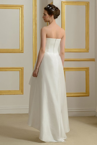 Vestido de novia Sin mangas Asimètrico Sin tirantes Volantes Adorno - Página 3