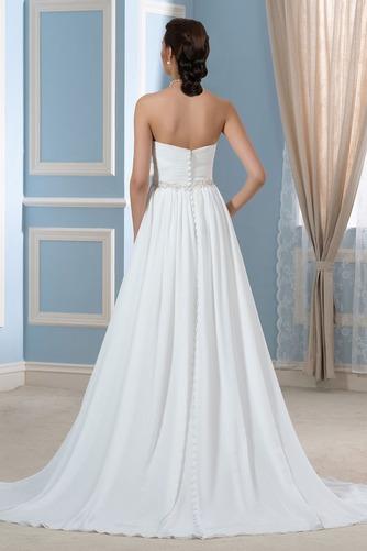 Vestido de novia Drapeado Sencillo Playa Gasa Natural Cinturón de cuentas - Página 2