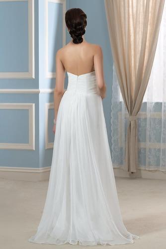 Vestido de novia Imperio Sencillo Gasa Otoño Cola Barriba Plisado - Página 3