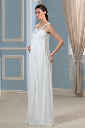 Vestido de novia Alto cubierto Hasta el suelo Moderno Imperio Cintura - Página 2
